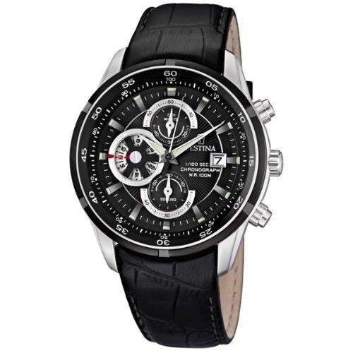 Festina Herren-Armbanduhr Analog Quarz Leder F6821-3