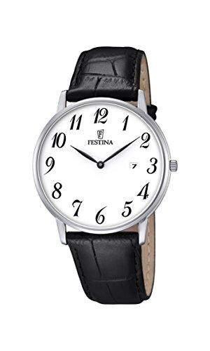 Festina Herren-Armbanduhr Analog Quarz Leder F68311