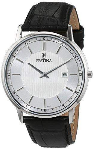 Festina Herren-Armbanduhr Analog Quarz Leder F68312
