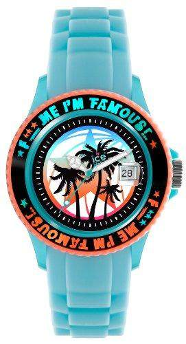 Ice-Watch Unisex-Armbanduhr Medium F*** Me Im Famous tuerkis palm FMSSTEPUS11