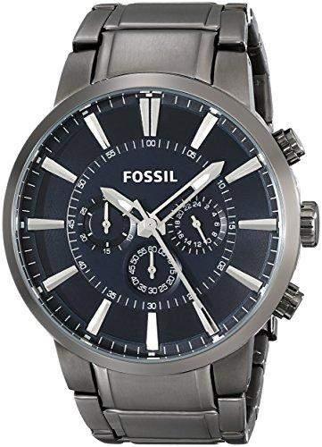 Fossil Herren-Armbanduhr XL Analog Quarz Edelstahl beschichtet FS4358