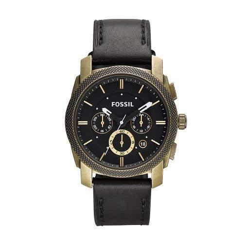 Fossil Herren-Armbanduhr Dress Gold Ip Used Quarz Analog Fs4657