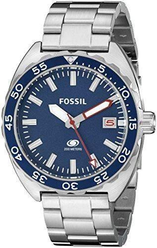 Fossil Herren-Armbanduhr Analog Quarz Edelstahl FS5048