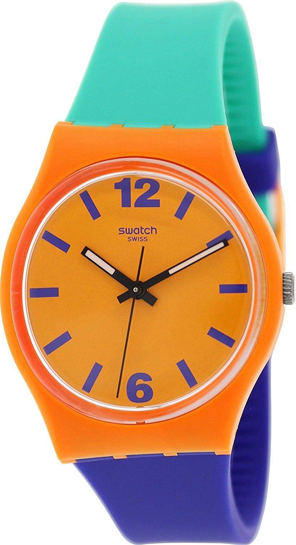 Swatch Herren-Armbanduhr XL Gent Pangasius Analog Quarz Plastik GO113
