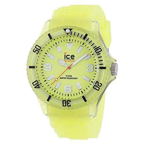 Ice-Watch Ice Glow Unisex-Armbanduhr Gelb Big GLGYBS11