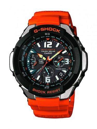 Casio G-Shock Herren-Armbanduhr Funk-Solar-Kollektion Analog Quarz GW-3000M-4AER