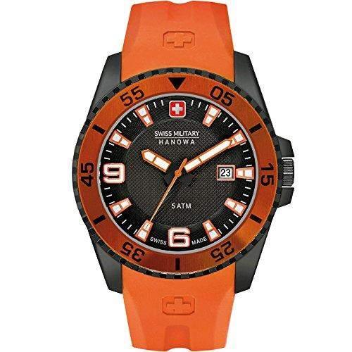 Swiss Military Hanowa Herren-Armbanduhr XL Analog Quarz Plastik 06-42112700779