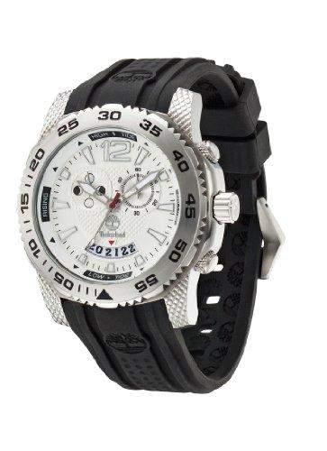 Timberland Herren-Armbanduhr XL Analog Quarz Silikon TBL13319JS04