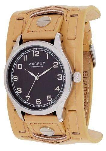 Axcent Herren-Armbanduhr Member Analog Quarz Leder IX15023-210