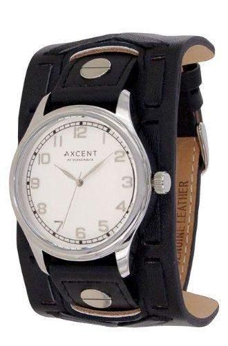 Axcent Herren-Armbanduhr Member Analog Quarz Leder IX15023-617