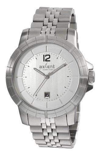 Axcent of Scandinavia-IX64853-632-Power-Armbanduhr-Quarz Analog-Zifferblatt Silber Armband Stahl Silber