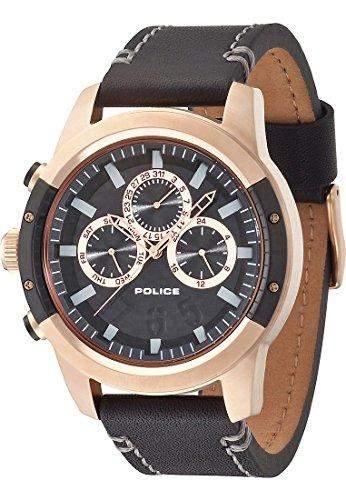 POLICE Herren-Armbanduhr KICKER Analog Quarz Edelstahl P14381JSRB-02