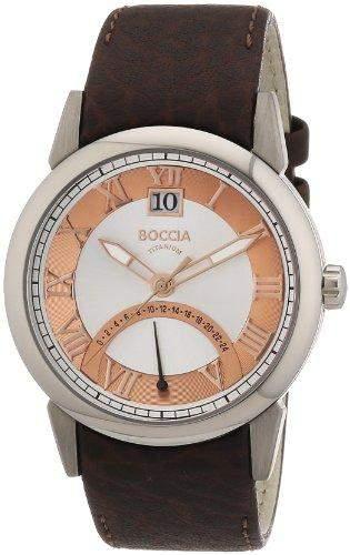 Boccia Herren-Armbanduhr Mit Lederarmband Trend 3531-05