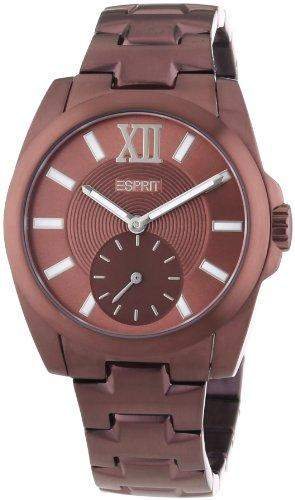 Esprit Herren-Armbanduhr XL Meridiana Dark Analog Quarz Leder