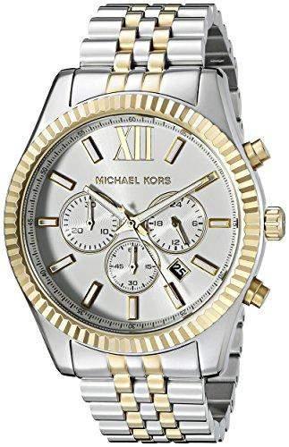 Michael Kors Mens Armbanduhr Chronograph Edelstahl beschichtet MK8344 von Michael Kors