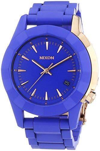 Nixon Herren-Armbanduhr XL Monarch Cobalt Rose Gold Analog Quarz Edelstahl A2881675-00