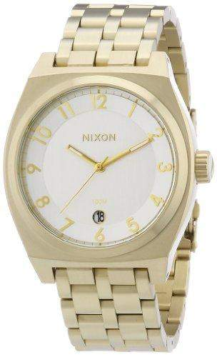 Nixon Herren-Armbanduhr XL Monopoly Analog Quarz Edelstahl beschichtet A3251219-00