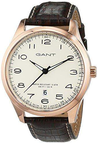 GANT TIME Herren-Armbanduhr MONTAUK Analog Quarz Leder W71303