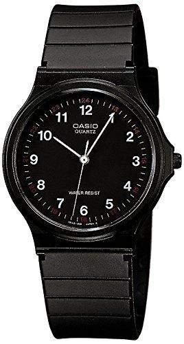Casio Herren Armbanduhr Collection Analog Quarz Schwarz Resin Mq-24-1Bllgf