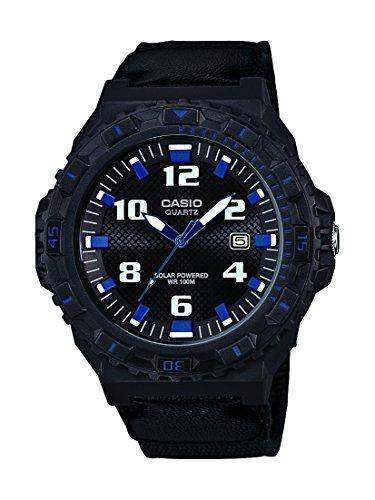 Casio Herren-Armbanduhr XL Collection Men Analog Quarz Textil MRW-S300HB-8BVEF