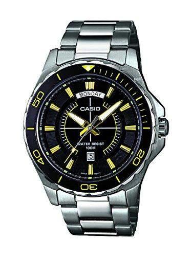 Casio Herren-Armbanduhr XL Collection Men Analog Quarz Edelstahl MTD-1076D-1A9VEF