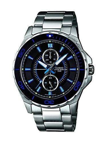 Casio Herren-Armbanduhr XL Collection Men Analog Quarz Edelstahl MTD-1077D-1A1VEF