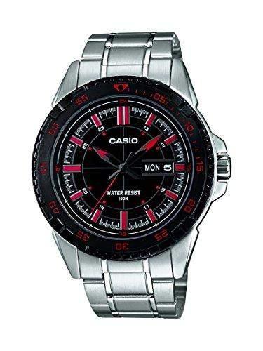 Casio Herren-Armbanduhr Analog Quarz Edelstahl MTD-1078D-1A1VEF
