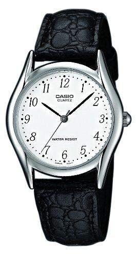 Casio Herren-Armbanduhr Analog Leder schwarz MTP-1154E-7BEF