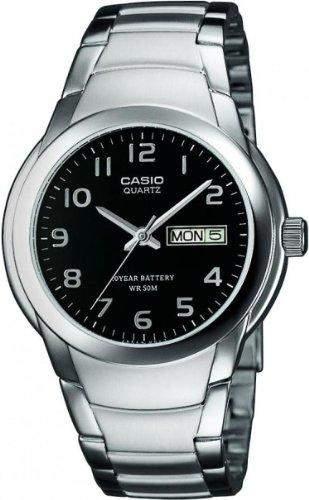 Casio Herren-Armbanduhr Analog Quarz Edelstahl MTP-1229D-1AVEF
