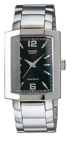 CASIO Herren-Armbanduhr Analog Quarz Edelstahl MTP-1233D-1
