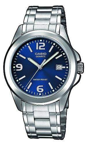Casio-mtp-1259pd-2a-Classic-Zeigt Herren-Armbanduhr 10510262Analog Stahl Grau