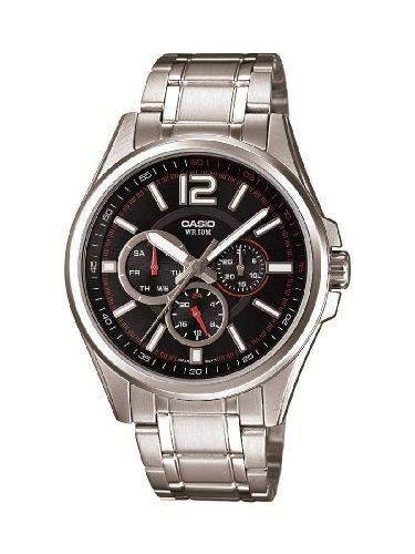 Casio Herren-Armbanduhr Classic Analog Quarz Edelstahl MTP-1355D-1AVEF
