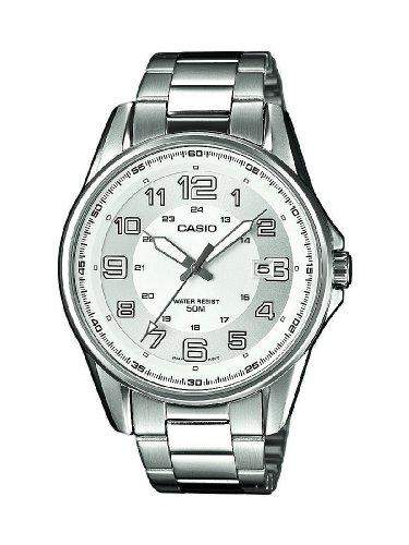 Casio Herren-Armbanduhr XL Casio Collection Analog Quarz Edelstahl MTP-1372D-7BVEF