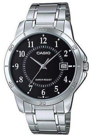 CASIO Herren-Armbanduhr Analog Quarz Edelstahl MTP-V004D-1