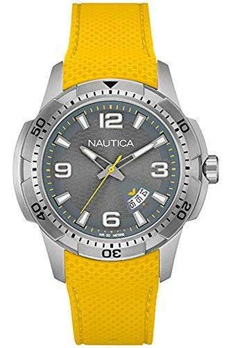 Nautica Herren-Armbanduhr Analog Quarz Silikon NAI12520G