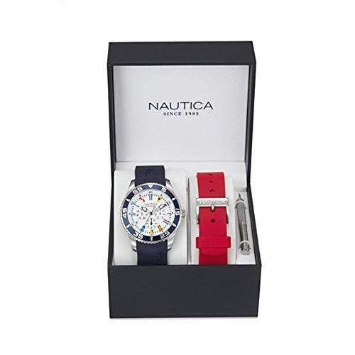 Nautica Herren-Armbanduhr Analog Quarz Silikon NAI13502G