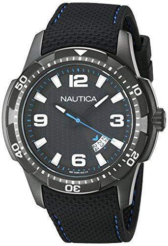 Nautica Herren-Armbanduhr Analog Quarz Textil NAI13511G