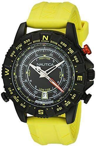 Nautica Herren-Armbanduhr Analog Quarz Silikon NAI21000G