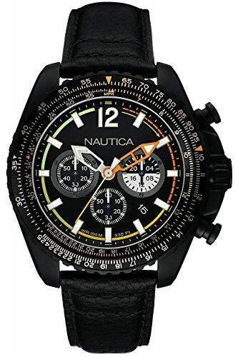 Nautica fuer Maenner -Armbanduhr Chronograph Quartz NAI22506G