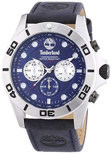 Timberland Herren-Armbanduhr XL Northfield Analog Quarz Leder TBL13909JS03