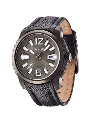 Police Herren-Armbanduhr Analog Quarz Leder PL13896JSU61