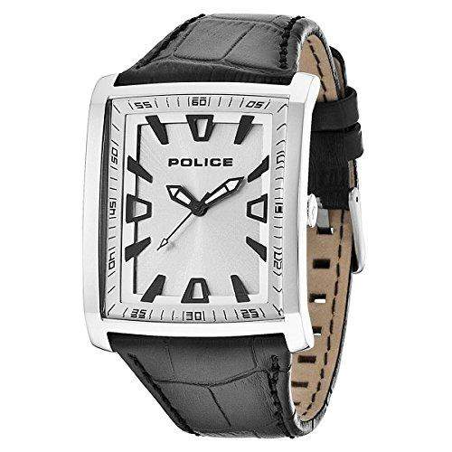 Police Herren-Armbanduhr Analog Quarz Leder PL14002JS04
