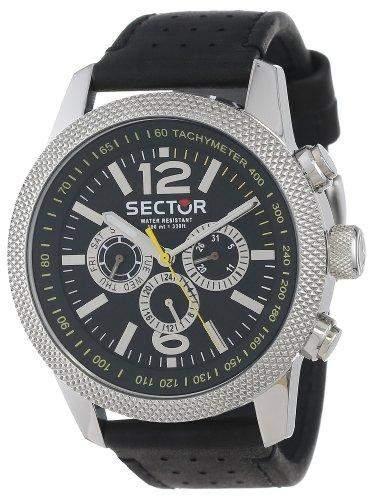 Sector Herren-Armbanduhr Analog Quarz Leder R3251102003
