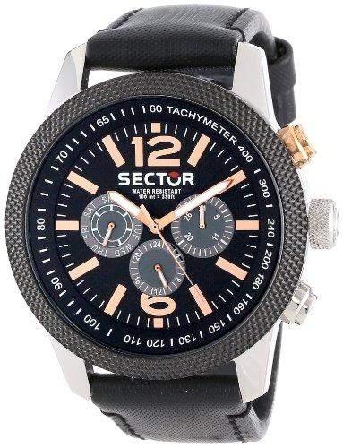 Sector Herren-Armbanduhr Analog Quarz Leder R3251102006