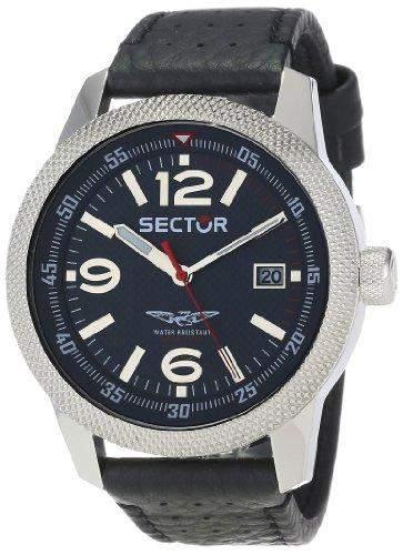 Sector Herren-Armbanduhr Analog Quarz Leder R3251102011