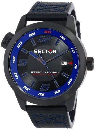 Sector Herren-Armbanduhr Analog edelstahl Silber R3251102020