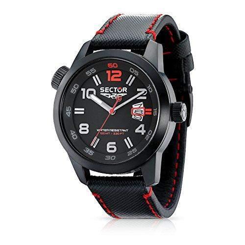 Sector Herren-Armbanduhr XL Oversize Analog Leder R3251102325