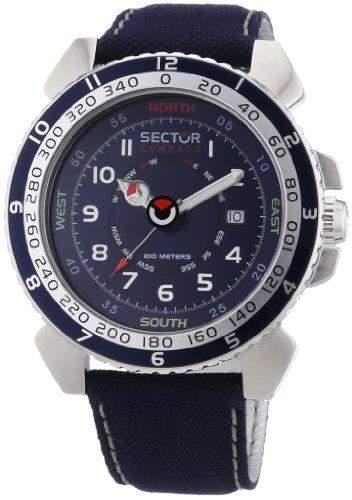 Sector Herren-Armbanduhr XL Centurion Analog Quarz Nylon R3251103001