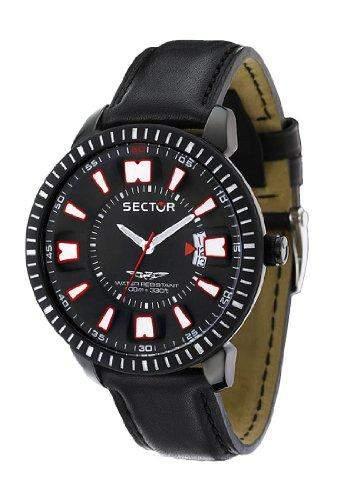Sector Herren-Armbanduhr Analog Quarz Leder R3251119003