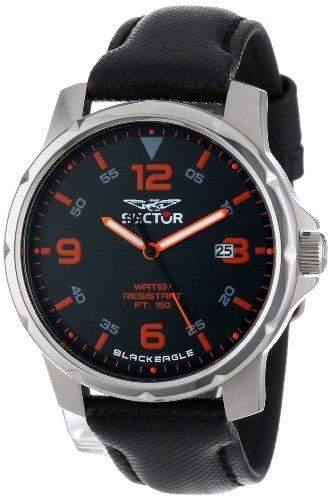 Sector Herren-Armbanduhr Analog Quarz Leder R3251189002